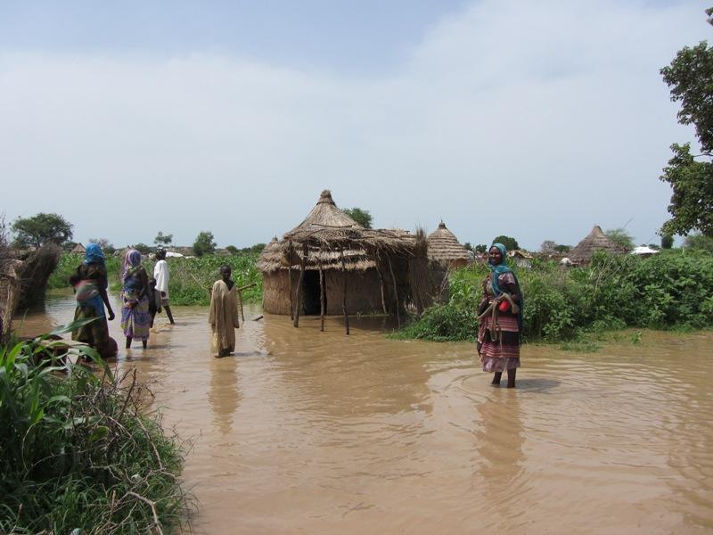 INONDATION : la vile d'Am-Timan et ses environs sous les eaux