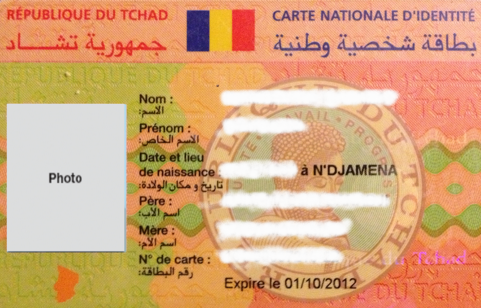 tarif carte d identité Tchad : Les Cartes Nationales d'Identité à nouveau délivrées, mais