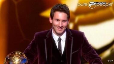 Messi sacré ballon d'or pour la 4ème fois