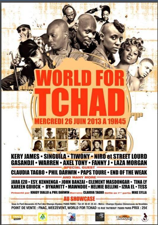 Le concert caritatif pour le forage de 15 puits par l'ONG World for Tchad, c'est ce soir!