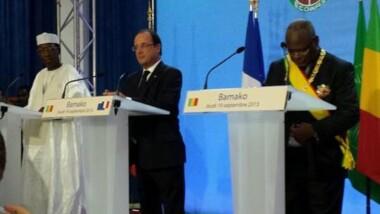 Conférence de Presse Hollande, IBK, IDI à Bamako le 19 Septembre 2013