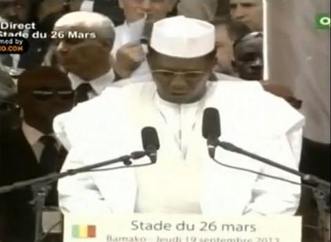 Mali: Discours du président tchadien Idriss Deby Itno à l'investiture d'IBK
