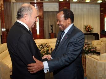 Entretien de Laurent Fabius avec Paul Biya sur la situation en Centrafrique
