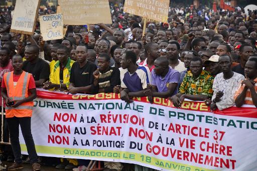Burkina Faso : importante manifestation contre une pérennisation du pouvoir de Compaoré