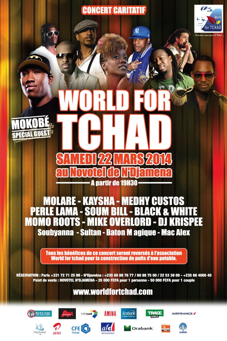 L'artiste Malien Mokobe sera en concert le 22 mars à N'Djamena pour remercier le Tchad