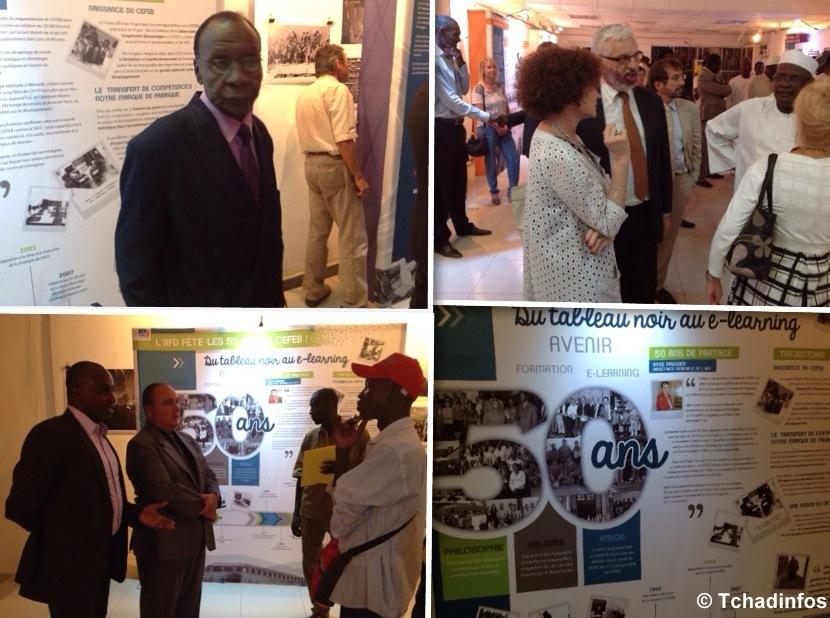 N'Djamena : une exposition pour célébrer les 50 ans du centre de formation de l'AFD