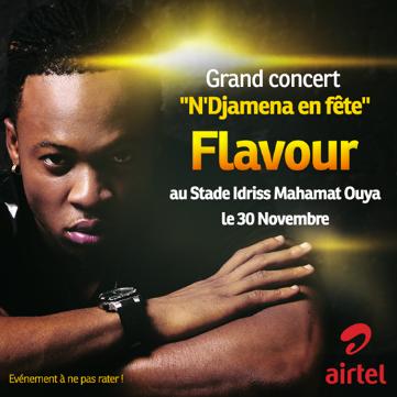 """L'artiste nigérian Flavour à N'Djamena pour le grand concert de """"N'Djamena en fête"""""""