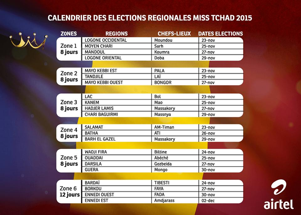 Élection Miss Tchad 2015 les présélections régionales débutent dimanche