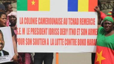 Marche de soutien à l'ANT par la communauté camerounaise vivant au Tchad