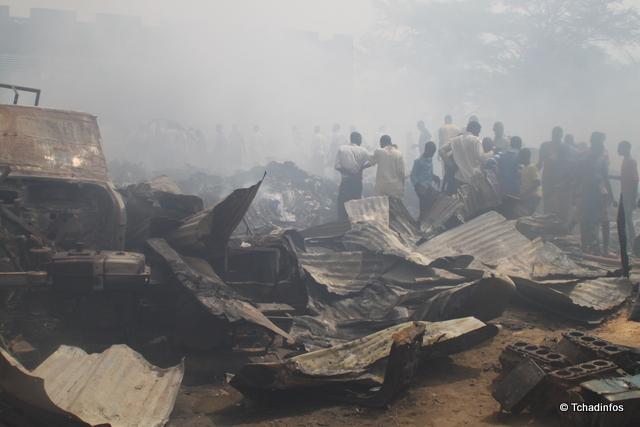 N'Djamena : un incendie a ravagé partiellement le marché de Dembé