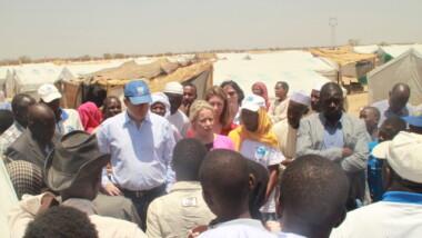 Tchad : JOHN GING directeur des opérations d'OCHA a visité le site des retournés de la RCA à Gaoui