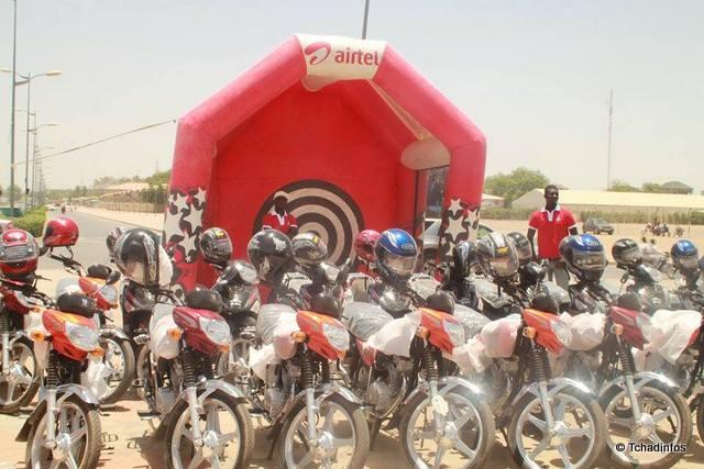 Airtel Tchad met en jeu 200 motos à gagner
