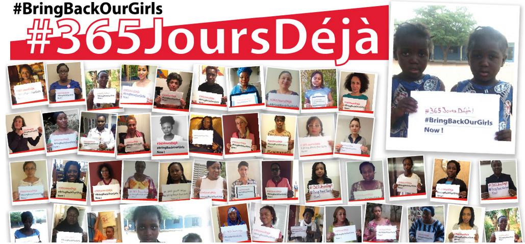 Les filles enlevées par Boko Haram : un an après la mobilisation ne faiblit pas