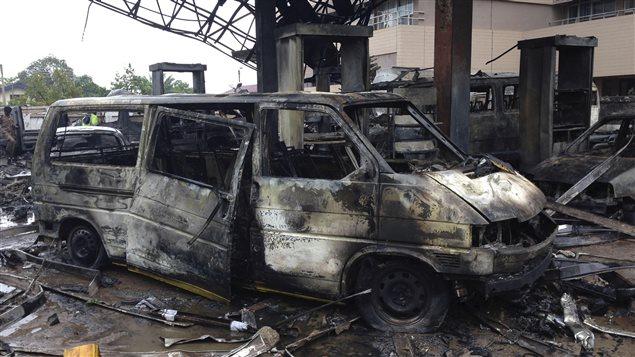90 morts dans l'incendie d'une station-service au Ghana