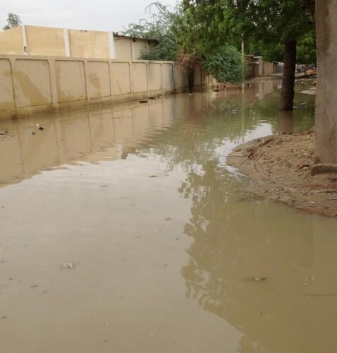 N'Djamena : une grosse pluie et la ville patauge