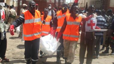 L'attentat du grand marché de N'Djamena en images
