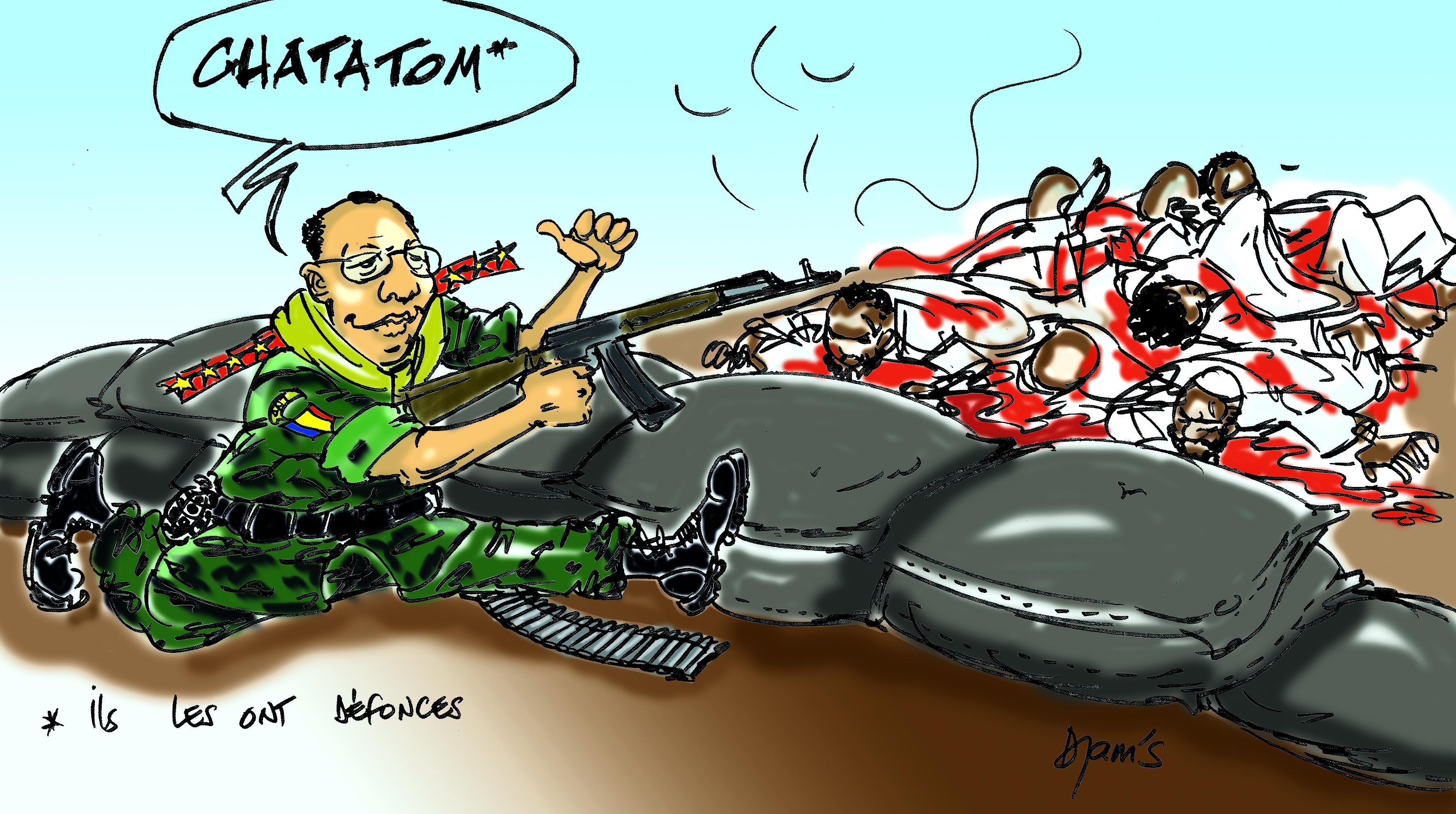 L'actualité vue par Djam's : exécution des membres de Boko Haram #Tchad