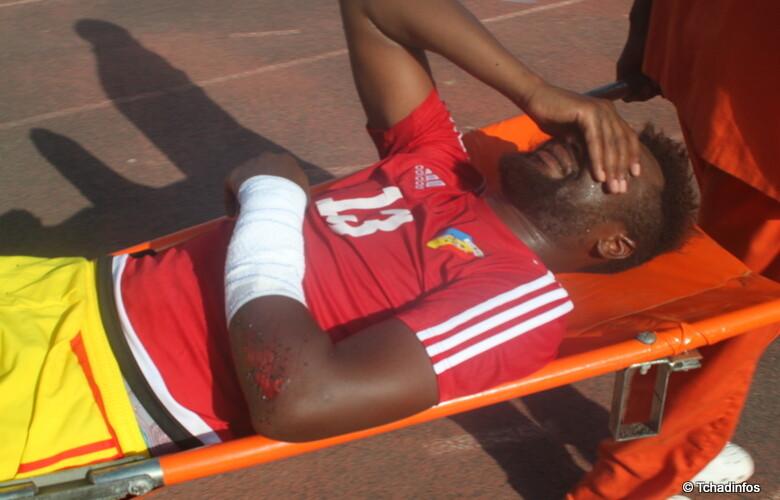 Le milieu tchadien Rodrigue Ndoram s'est fracturé le bras lors du match Tchad – Egypte