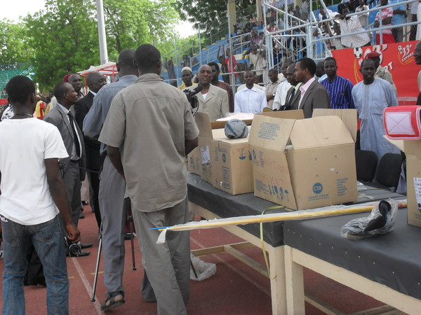 Tchad : 400 millions FCFA d'équipements sportifs offerts par la Chine