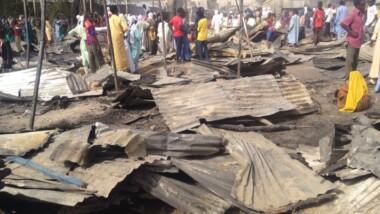 Tchad : incendie au marché central de Mao
