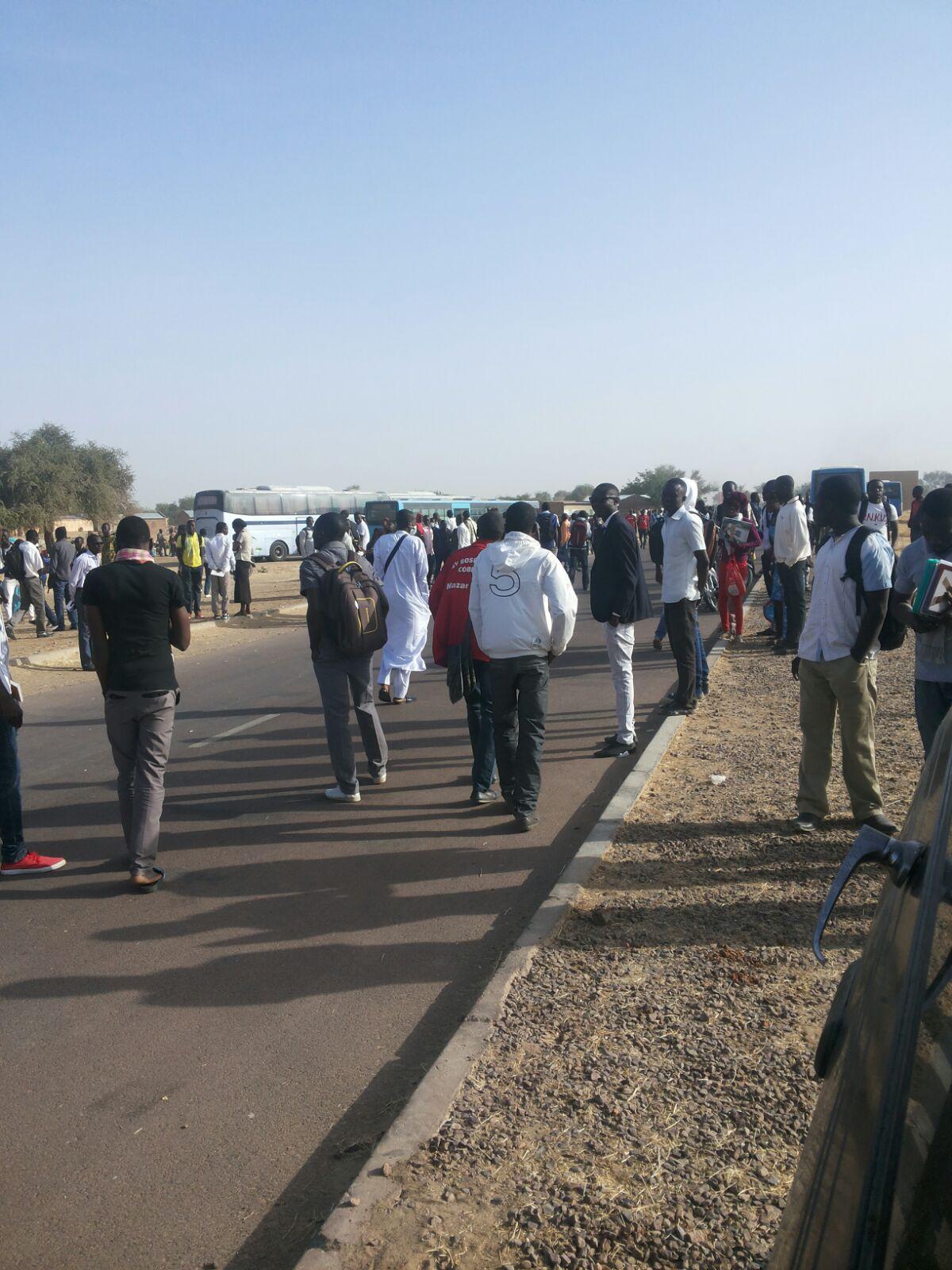 Manifestation des étudiants à l'Université de Toukra ce matin