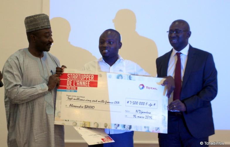 Total Marketing Tchad prime les trois lauréats du Challenge Startupper de l'année 2016