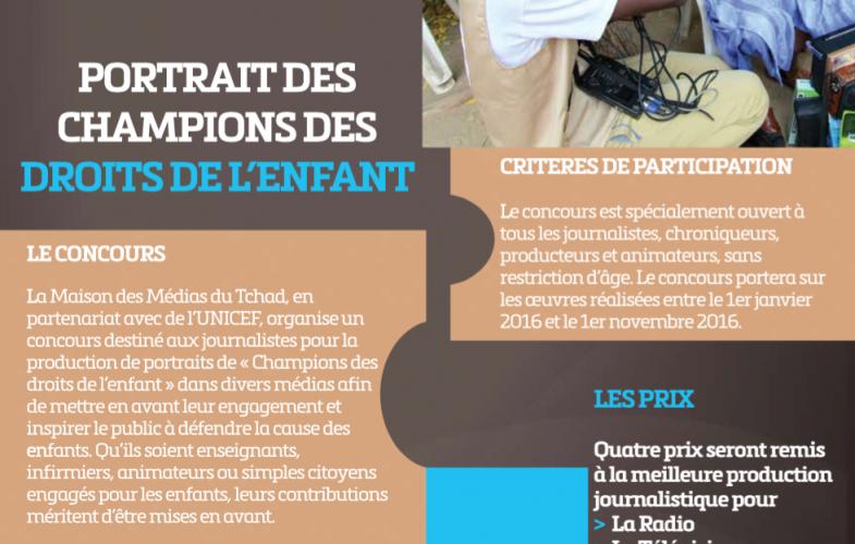 Concours Média 2016 : portrait des champions des droits de l'enfant