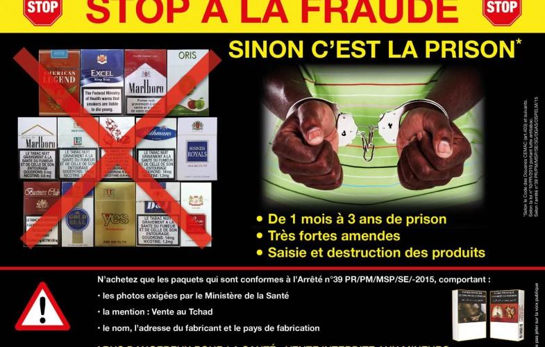 La contrebande se régale de la mise en place d'avertissements santé chocs sur les paquets de cigarettes au Tchad