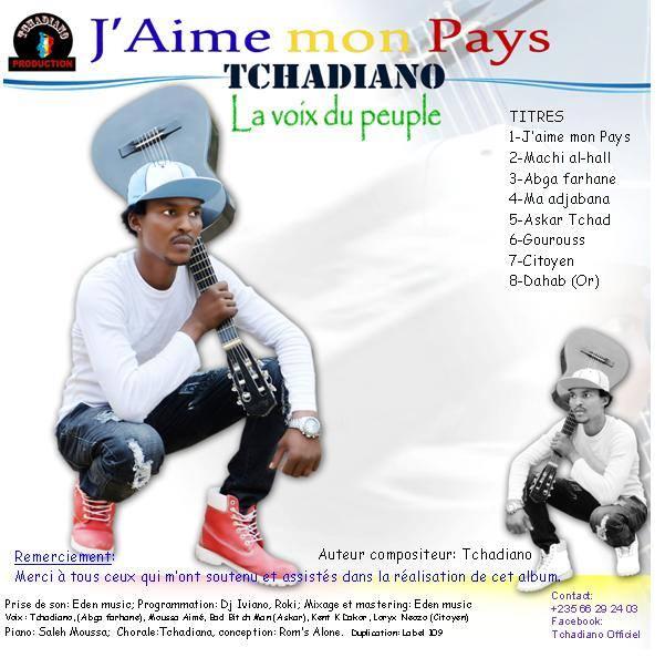 """""""J'aime mon pays"""" nouvel opus du rappeur Tchadiano"""