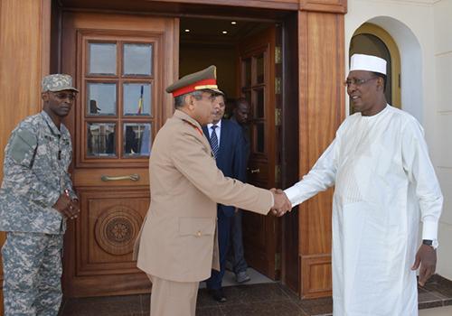 Le Chef d'état major saoudien reçu par le Président Deby