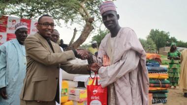 Airtel Tchad vient en aide à l'école coranique Khalwa Ibrahim Inyass de Koundoul