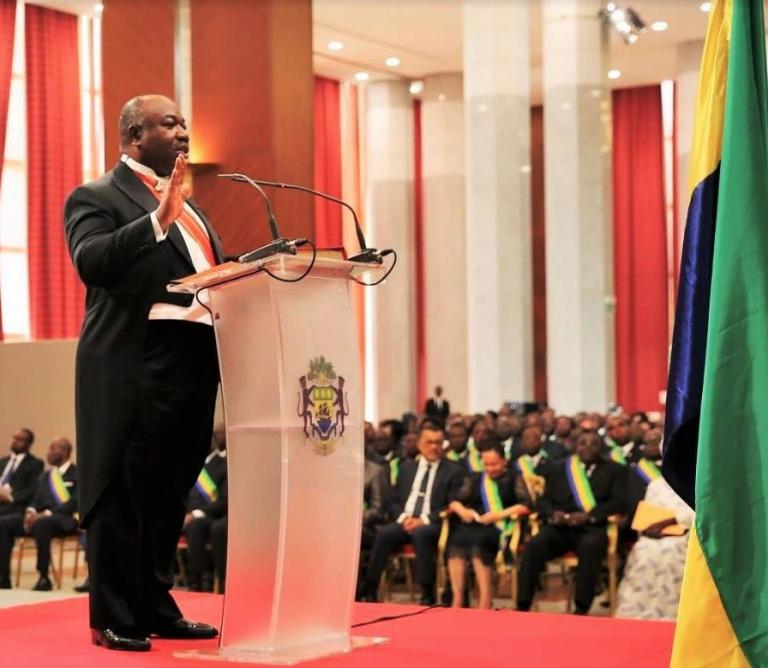 Gabon : Ali Bongo Ondimba investi pour un nouveau mandat à la tête du pays