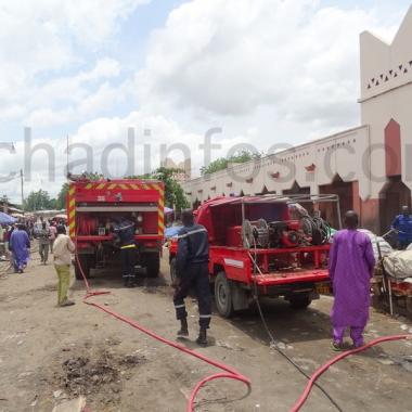 Incendie mineur au marché central de N'Djamena