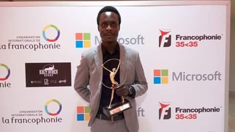 Iyalat: Lalaye Didier, Super Prix du jeune francophone et jeune personnalité de l'espace francophone 2016