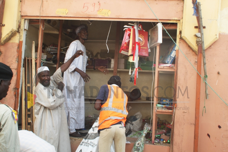 N'Djamena : déguerpissement des constructions anarchique au marché central