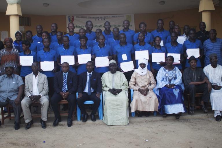 Fin de formation des arbitres tchadiens sur des nouvelles règles du foot