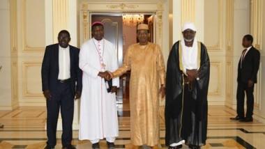 Deby a reçu les trois leaders religieux du Tchad