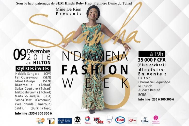 Agenda : N'Djamena Fashion Week Saamha c'est ce soir