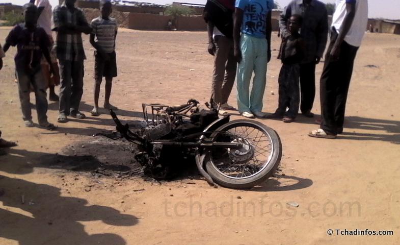 La moto d'un pasteur parti en fumée avec ses documents