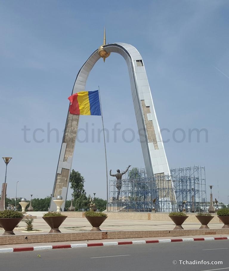 Tchad: l'arc de la Place de la Nation est en réfection