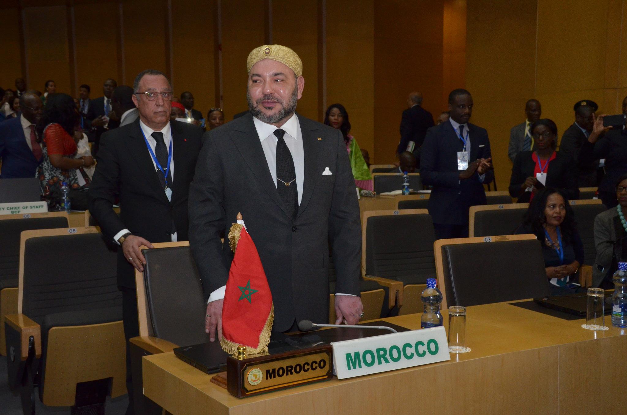 Le Roi du Maroc lors du 28e sommet de l'UA Photo DR UA