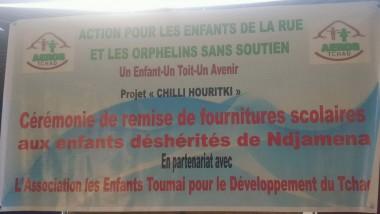 L'AEROS en partenariat avec ASET-DT offrent de fournitures aux enfants déshérités