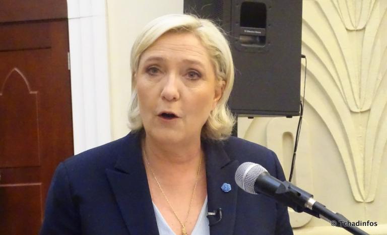 """Tchad : face aux élus du peuple, Marine Le Pen promet """"le respect de la souveraineté nationale"""""""