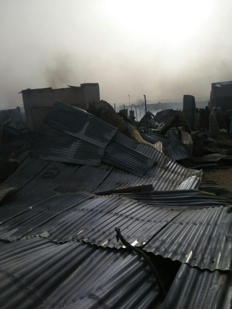 Incendie Mao : le marché dévasté, des commerçants ruinés
