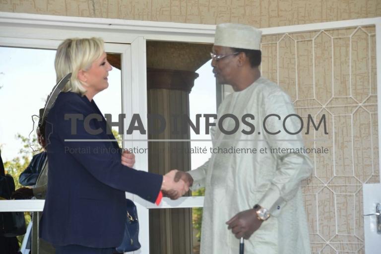 En visite au Tchad Marine Le Pen a été reçue par le Président Deby