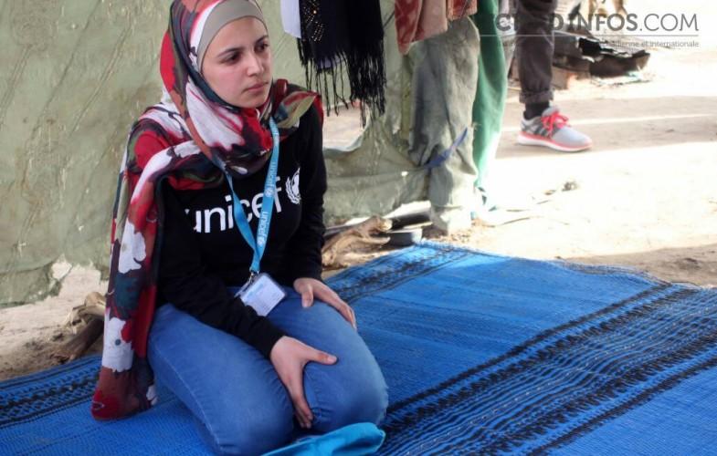 Tchad: La réfugiée syrienne Muzoon Almellehan visite le camp des retournés Tchadiens de Gaoui