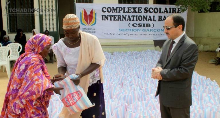 Don de vivre du complexe scolaire BAHAR au centre social N°9 à Diguel Ryad