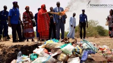 Tchad : incinération des produits périmés et prohibés saisis par la Maire de N'Djaména