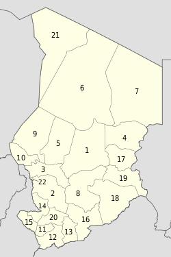 Tchad – Organisation administrative : 23 provinces, 95 départements et 365 communes