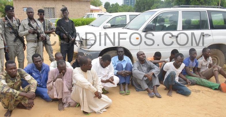 Tchad: Des présumés voleurs et faussaires présentés à la presse